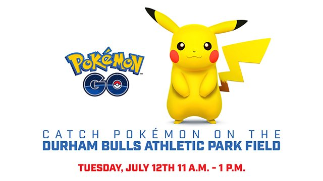 JUST ANNOUNCED: #DurhamBulls to Open Ballpark to Fans for #PokemonGO   Details: https://t.co/MiMacGQDPX https://t.co/ZdZIfuVTzc