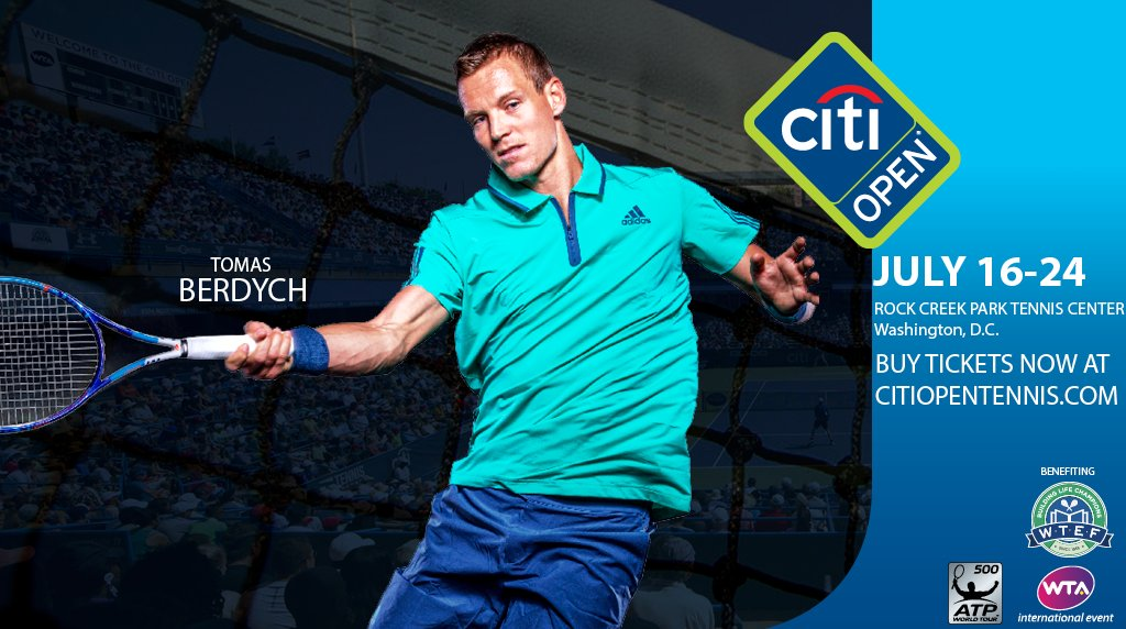 Follow us on both Facebook and Twitter to enter our giveaway - 2 tickets to @CitiOpen: