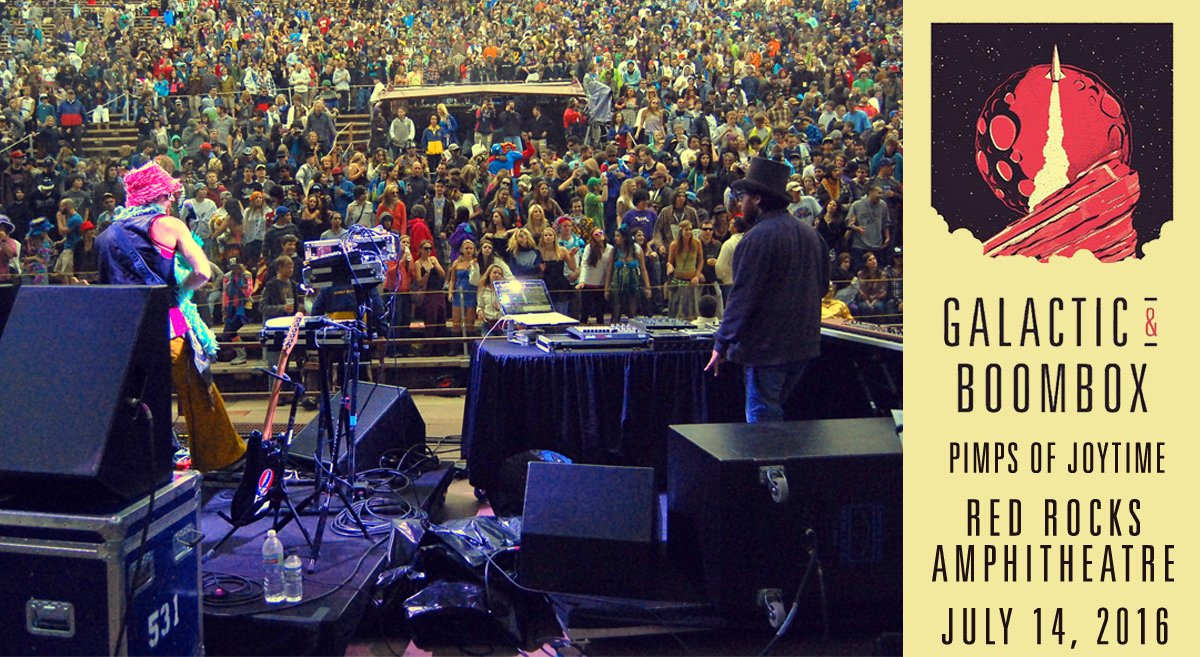 We're giving away a PAIR OF TICKETS to our show with @GalacticFunk at @RedRocksCO on 7/14! RETWEET to enter. https://t.co/d1fnwF4oIm