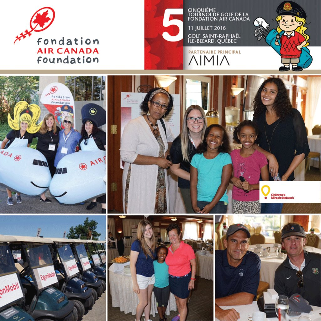 Today the AirCanadaFoundation hosts its annual golf fundraiser in support of sick children.