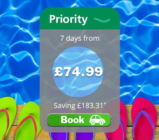 Up to 70% off hol parking! Priority is closest, has wider bays and Priority Security access!