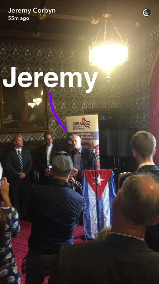 I thought it was a wind up but seems Mr Corbyn did address the Cuban Solidarity Campaign as today's drama took place https://t.co/Q6q39xu9n7