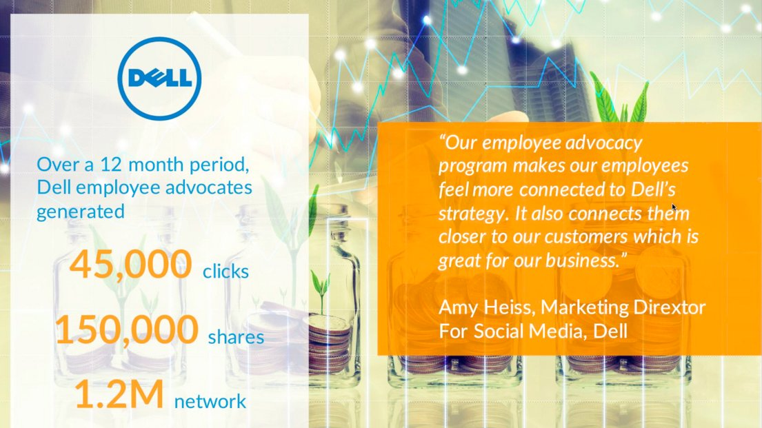 Hey @AmyHatDell - You're quoted on @EveryoneSocial #socialselling #employeeadvocacy webinar. https://t.co/uToPmlFLXl