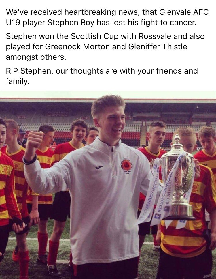 Devastating news about a fantastic young player. https://t.co/IHQQW0fMMN