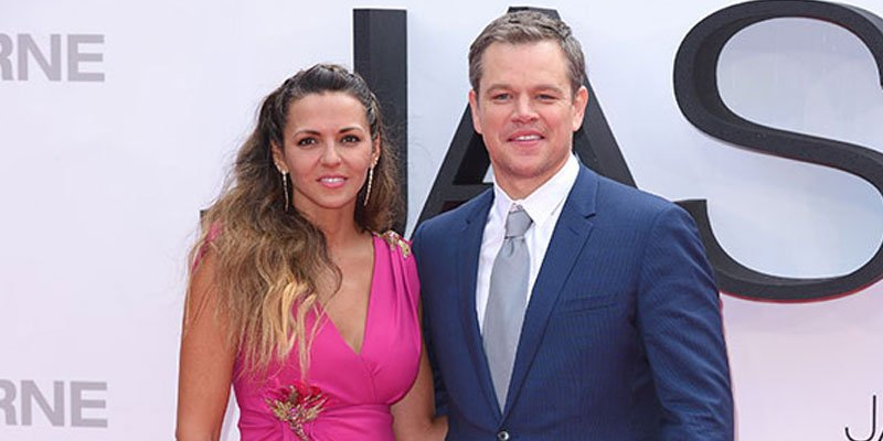 Matt Damon's wife, Luciana Barroso, stuns in high-split dress at Jason Bourne premiere
