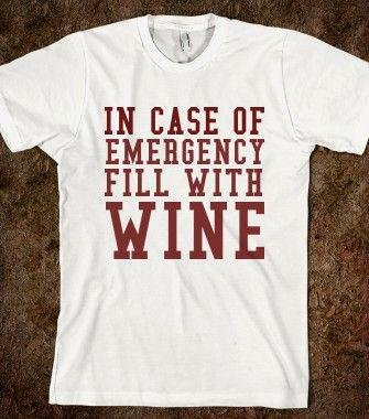 test Twitter Media - In Case of Emergency Fill With #Wine #Winelovers! #WineSelfies #wineoclock https://t.co/q13clv7Iu4