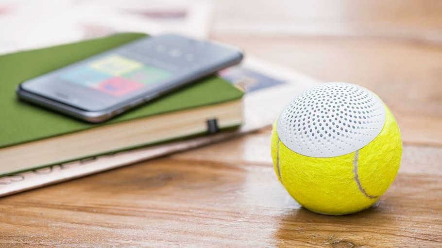 Pro tennis balls repurposed as wireless speakers