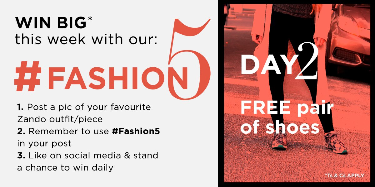 Day 2 of #Fashion5 and we want YOU to WIN! Follow the steps below and you could WIN some fab new kicks. https://t.co/CHY1k0c09N