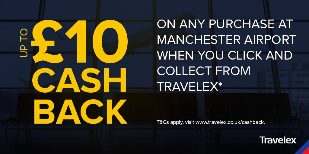 RT @TravelexUK: Treat yourself to any purchase at @manairport with our £10 cashback offer!