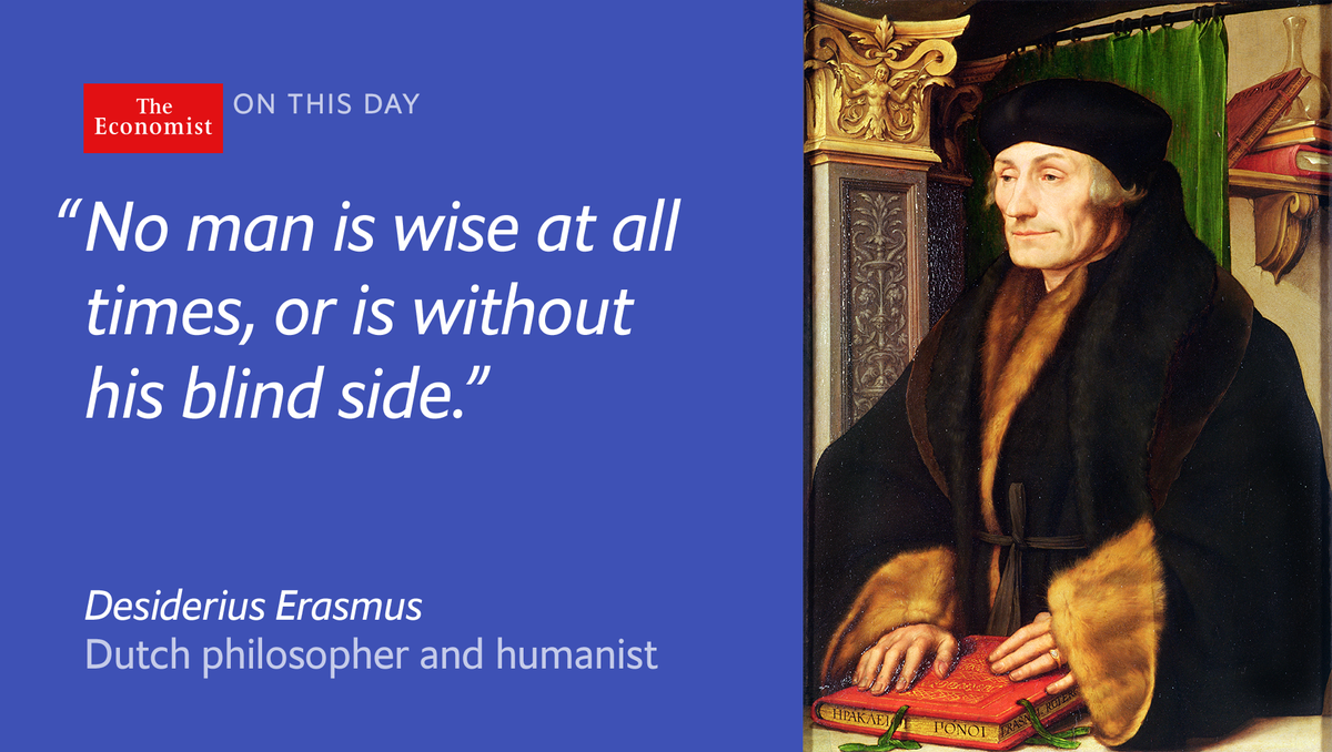 The namesake for our blog on religion and public policy, Erasmus died onthisday 1536