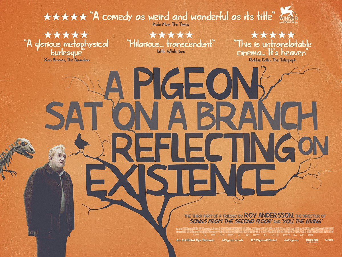 Premiere alert! We're screening A Pigeon Sat on a Branch Reflecting on Existence tonight at 1.10am #setyourrecorders https://t.co/L7gm4R6dZu