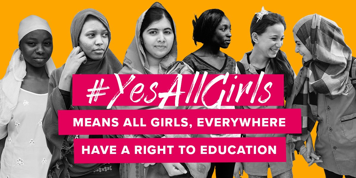Happy 19th Bday, Malala! We stand by you. #YesAllGirls everywhere deserve 12yrs of quality education. @MalalaFund https://t.co/zfgPYsbfew