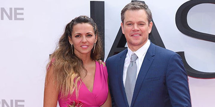 Matt Damon's wife, Luciana Barroso, stuns in high-split dress at JasonBourne premiere