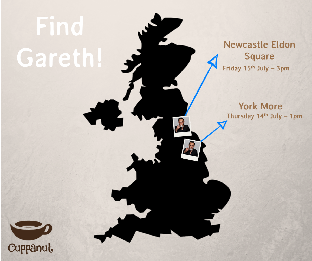 Meet the nutty man behind @cuppanuttea... @Gareth_Gates! Pop in store for a coconut cuppa - more dates to come! https://t.co/gzODVlO29y