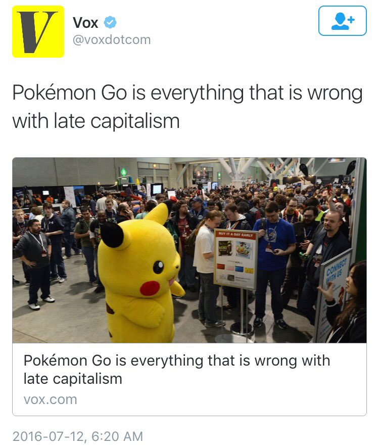 Take a moment to appreciate that Vox took its #PokemonGo headline from an @Awl article mocking potential headlines https://t.co/SDzpHin6FB