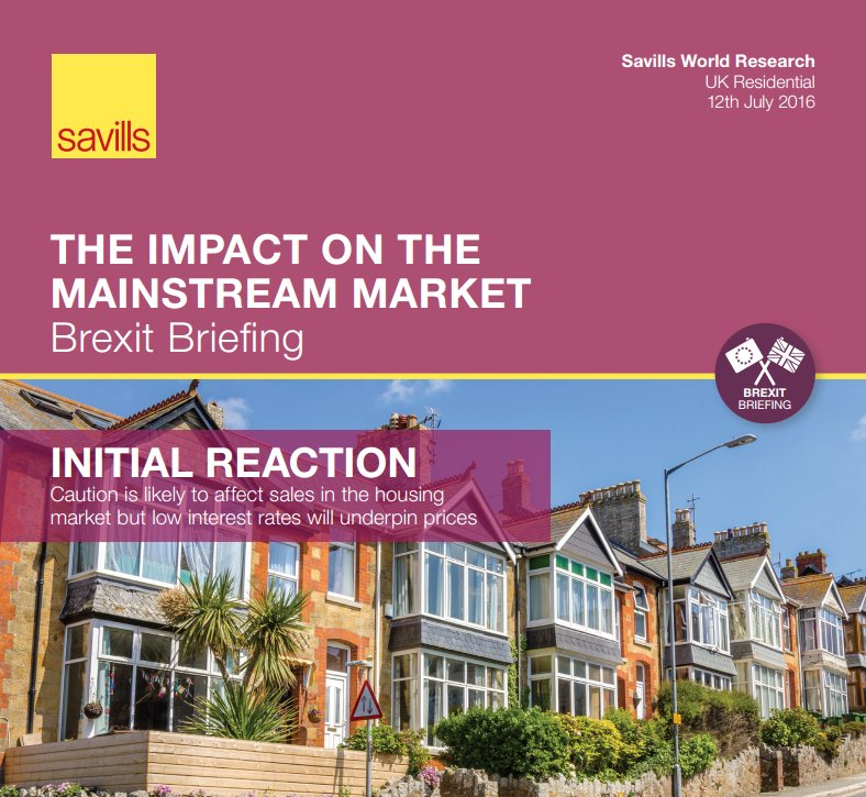 How could #Brexit impact the UK mainstream housing market? New Savills report: https://t.co/Hk5ovVsWpc https://t.co/rjLOecSJ0c