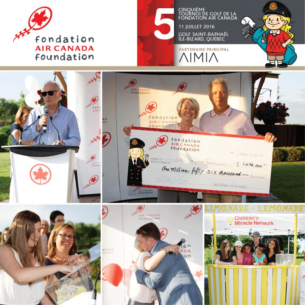 AirCanadaFoundation raises +$1m for Canadian children's charities. Thanks for supporting!