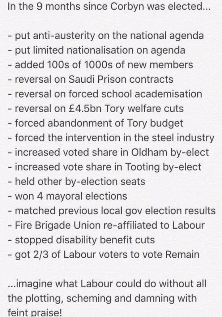 Hang on, here's a list of what Jeremy Corbyn has done in the 9 months he has been Labour leader. #NEC https://t.co/39JMTOZsei