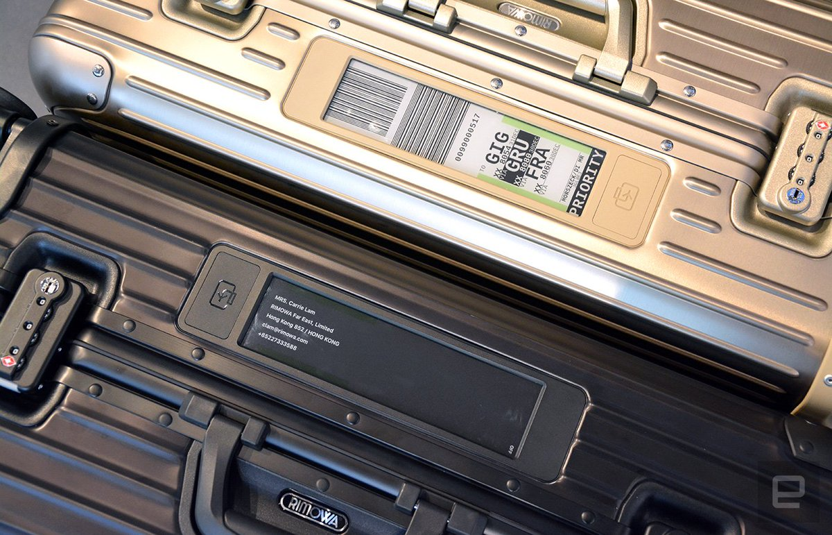 Say goodbye to paper tags with the Rimowa Electronic Tag: