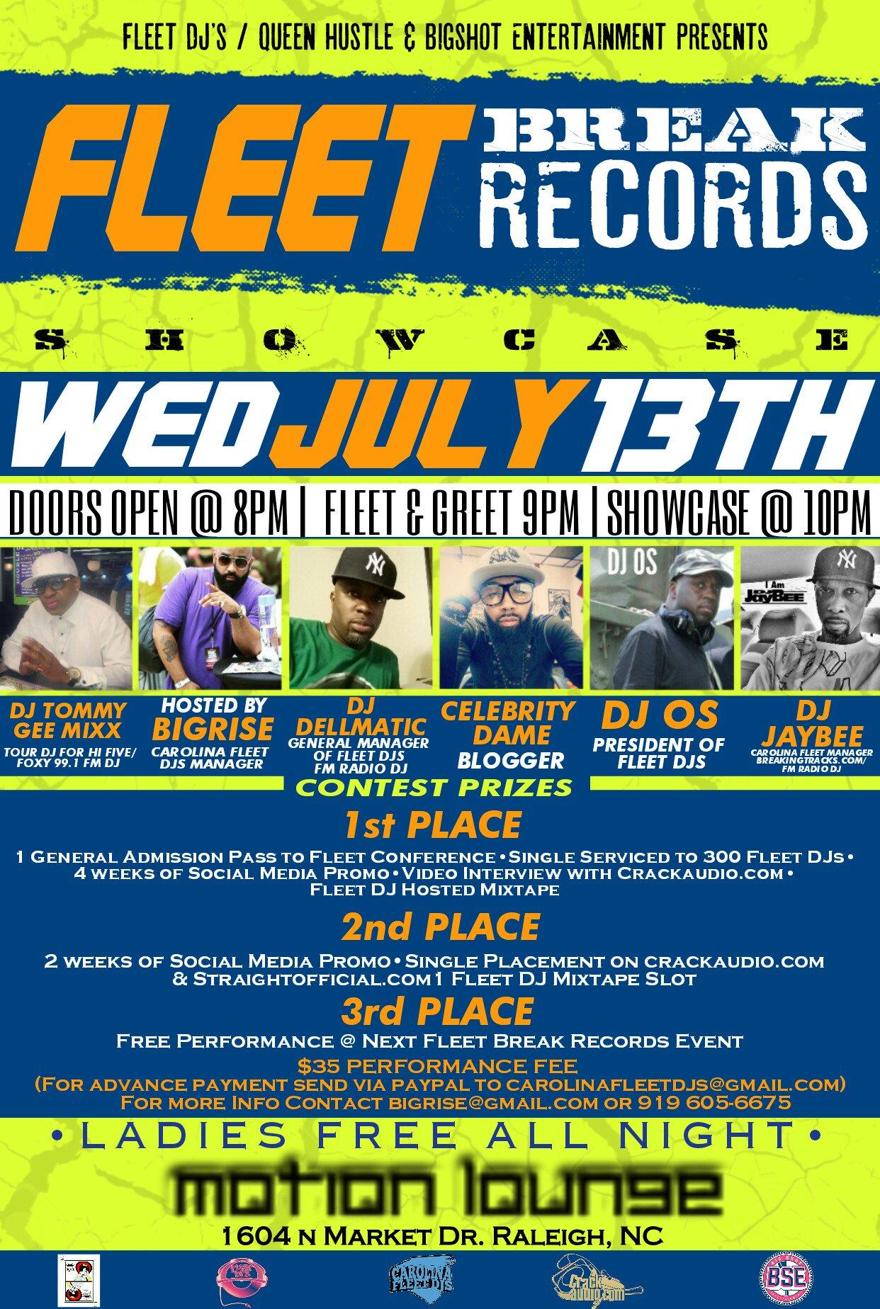 FLEET BREAK RECORDS SHOWCASE, BRING 5 PEOPLE TO WAVE PERFORMANCE FEE @Bigrise @DJDELLMATIC @DJOS100 @TommyGeeMixx https://t.co/qTBlyhthQ5