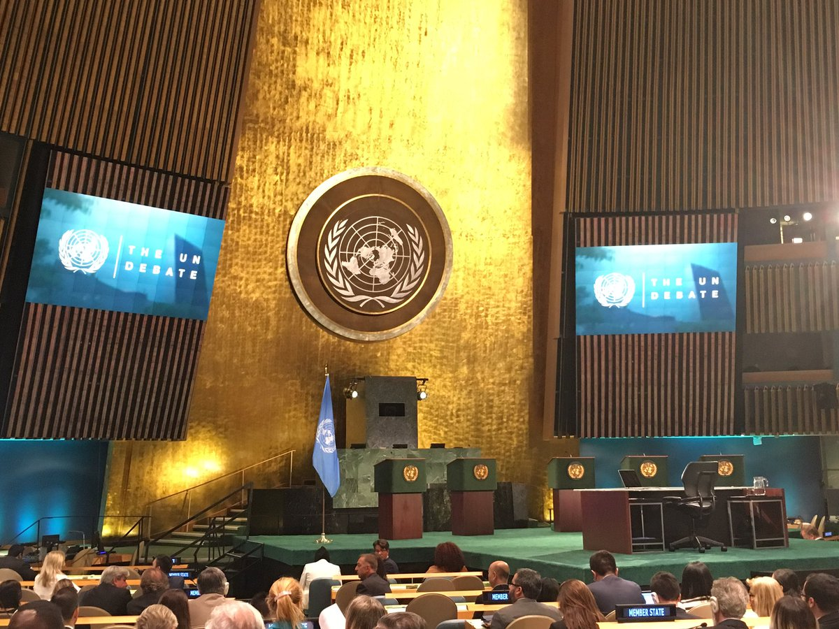 Looking forward to #AJUNDebate with #UNSGcandidates at GA Hall. Follow live at https://t.co/SNtBDq6mcV https://t.co/grnrsfGDQA