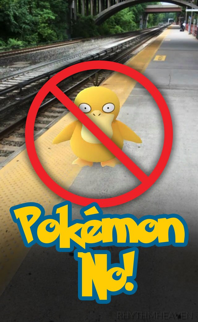 #PokemonGo is fun, but please stay aware of your surroundings when playing and NEVER play near railroad tracks. https://t.co/VHLEQNEM4z