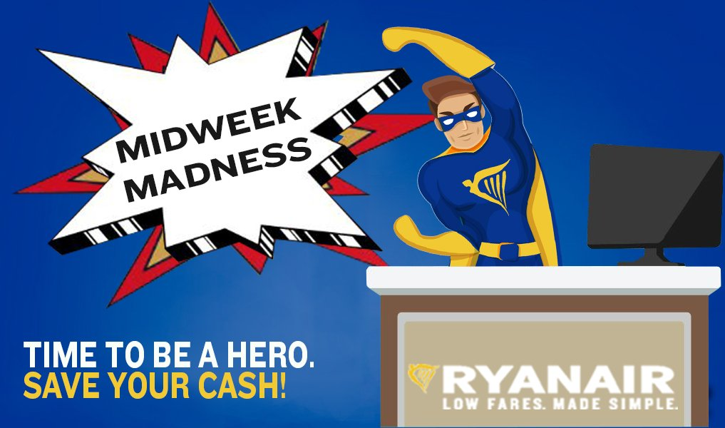 Midweek Madness!  Belfast to Berlin €19.99 fear Flash Ryan is here. SUPER low fares!