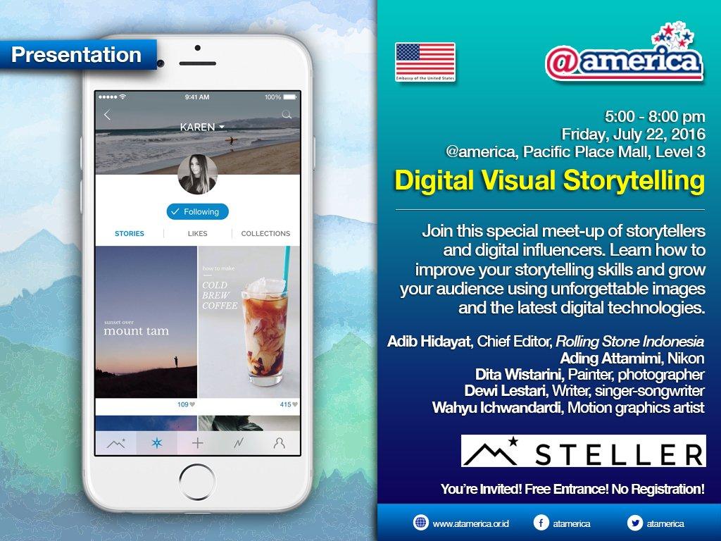 Bbrp pengguna steller akan berbagi cerita ttg proses kreatif mereka dlm membuat cerita di @StellerStories #stellerID https://t.co/m49HerG59N