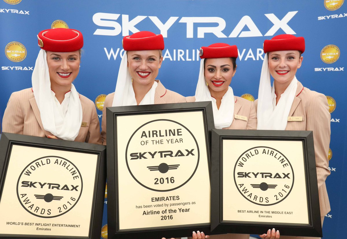 RT @airlinequality: Emirates named World's Best Airline at Skytrax World Airline awards-