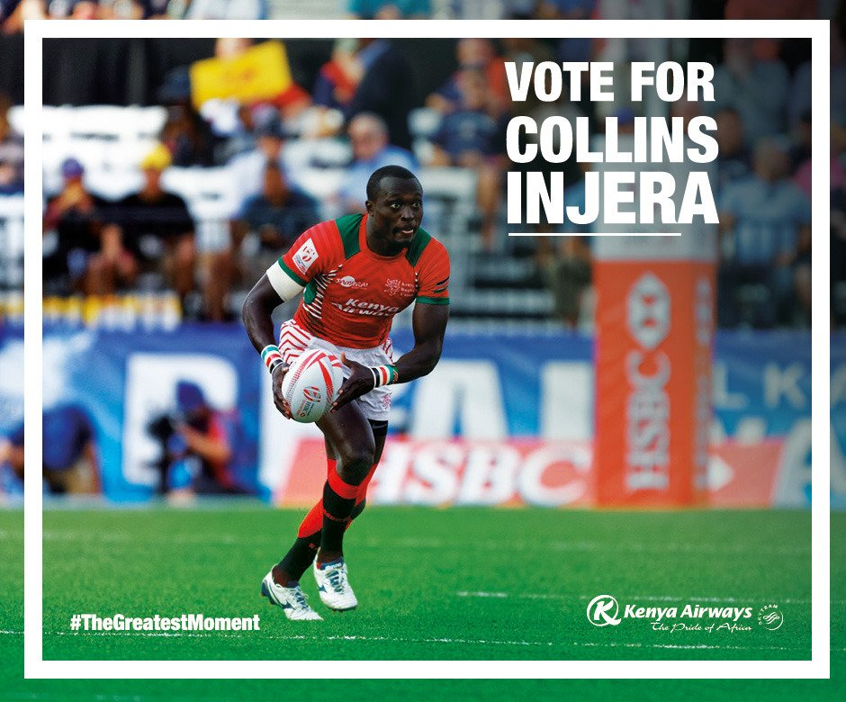 Collins Injera broke the all-time try scoring record in 2016, Click on the heart to vote.