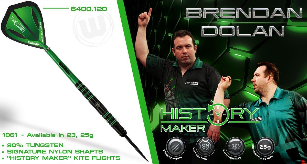 .@BrendanDolan180 NEW darts comp - simply Follow & RT to be entered Winner chosen midday Mon 18th July #HistoryMaker https://t.co/2uhyoR3wGa