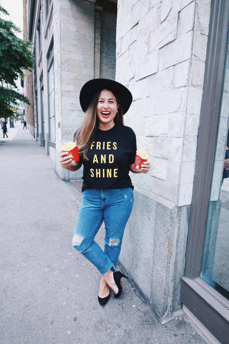 Follow + RT for your chance to WIN one of these @McD_Canada #FRIESANDSHINE tees