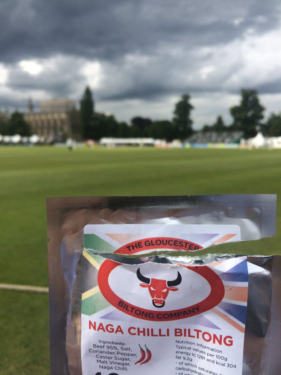 Taking Tea @Gloscricket Cheltenham #Essex #Biltong #NagaChilli @GlosBiltong https://t.co/fW982z8u0v