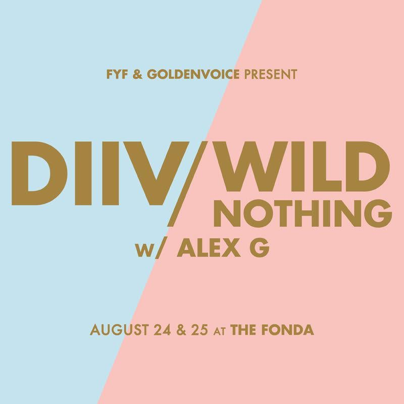 Los Angeles, @DIIV & @WildNothing band are playing TWO co-headline shows on 08/24 & 08/25 at the @FondaTheatre! https://t.co/2QbND9oCYx