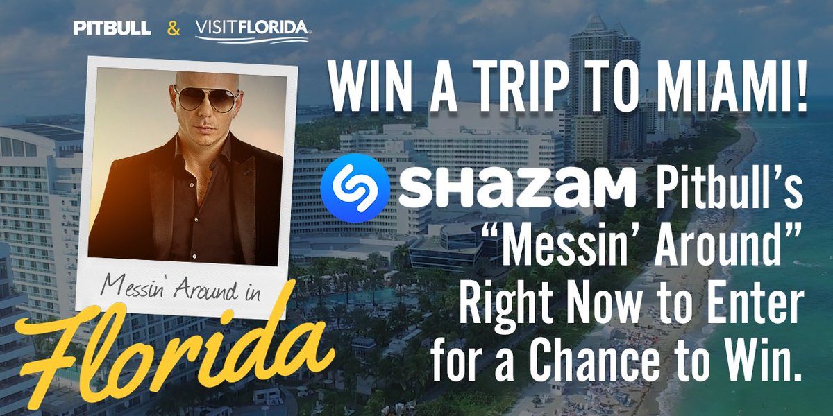 You could win a trip to party in Miami! @Shazam my track #MessinAround now to enter. @VISITFLORIDA #LoveFL https://t.co/WZq1SCOeja