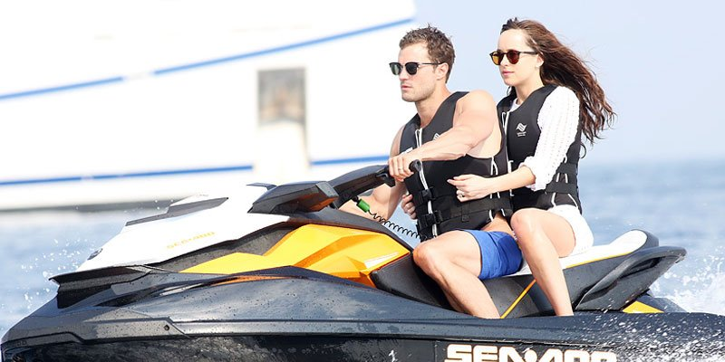 Dakota Johnson, Jamie Dornan make a sexy splash filming FiftyShadesFreed in French Riviera