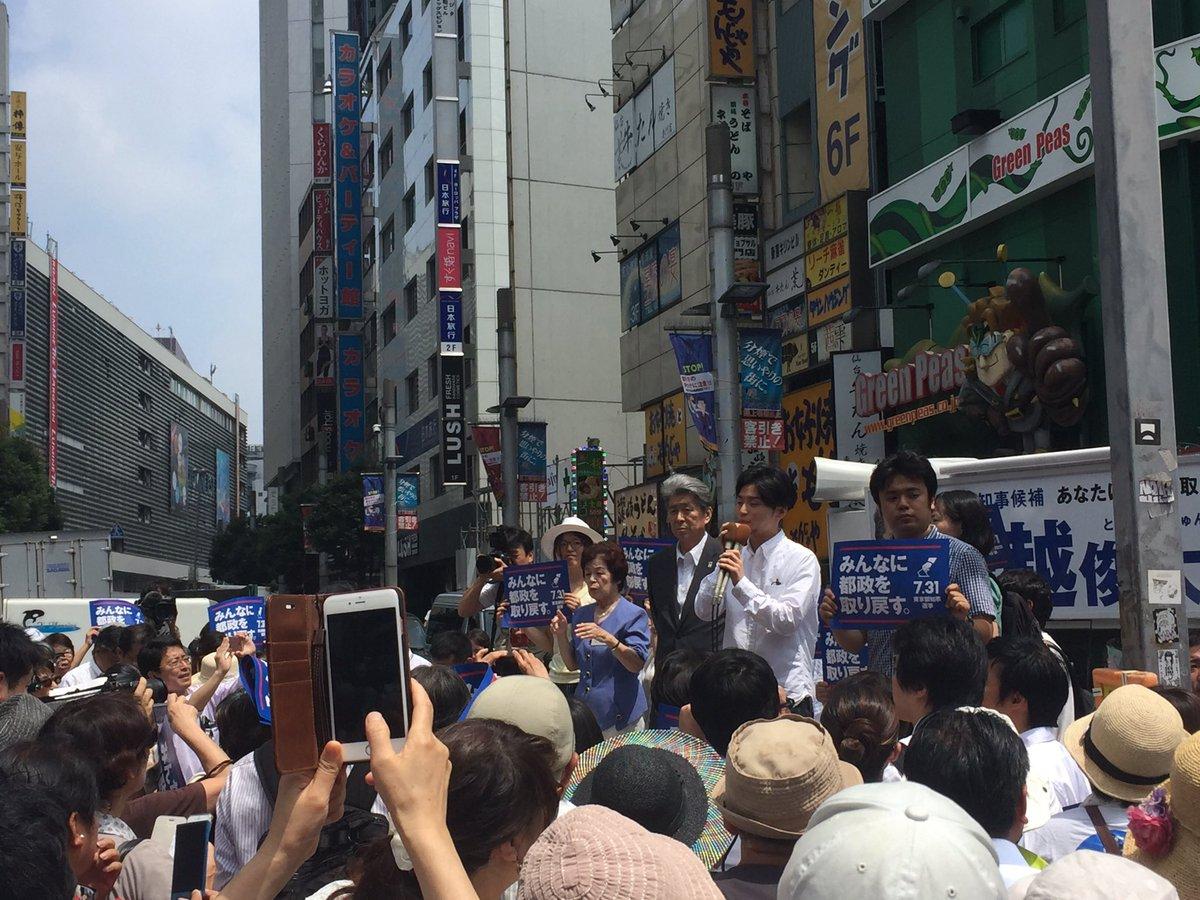 鳥越さん、第一声の取材、最初にマイクを握ったのはSEALDsの奥田さん。 https://t.co/6BnEmOGuBK