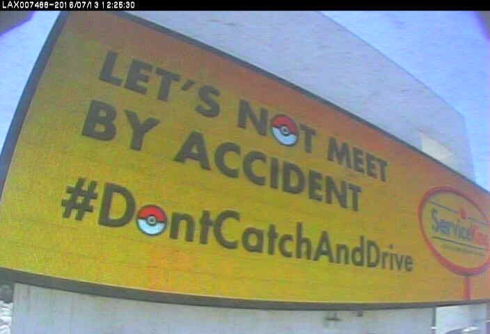 We put 107 of these up on digital boards around the country today #DontCatchAndDrive #PokemonGO https://t.co/1D07brlWsl