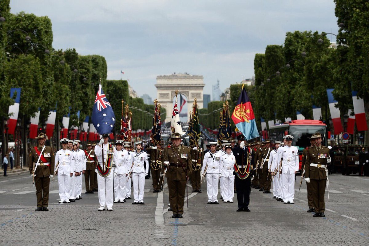 #YourADF are formed up ready to march in the French National Day parade in Paris. #14juilette https://t.co/tyKPSov1LW
