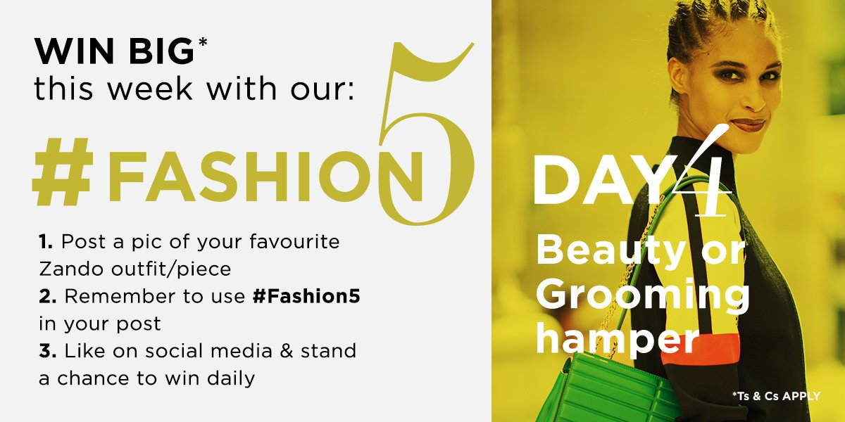 Day 4 of #Fashion5 and we're all about beauty and grooming. Get those entries in, Friday is almost here! https://t.co/yrZgnfweq7