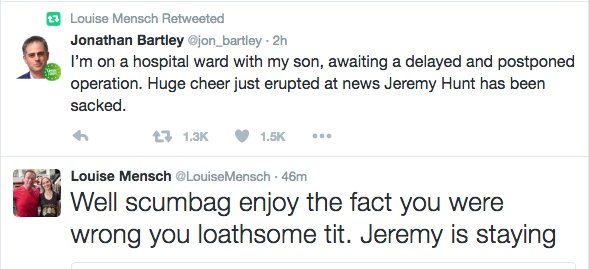 In case you missed it earlier, that Louise Mensch seems like a nice person. https://t.co/6OxP6QZ58g
