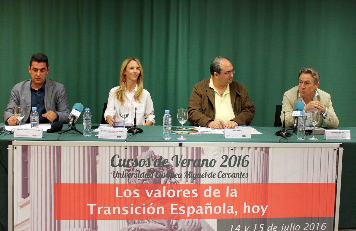 """Mesa redonda """"España, país de libres e iguales"""" con @hermanntertsch, @cayetanaAT y @AntonioRNaranjo, en Curso @UEMC https://t.co/J5hRu5dR46"""