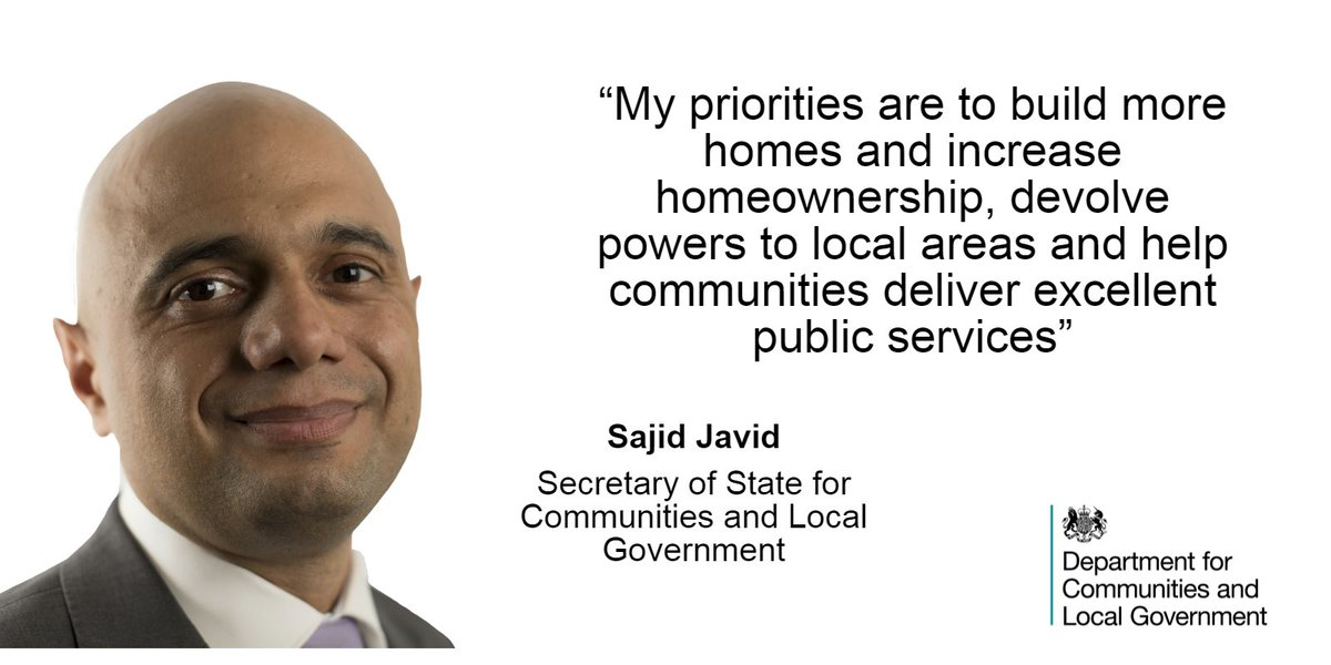 .@sajidjavid on his priorities in his new role as Communities Secretary https://t.co/1s1Rs8ZTj2
