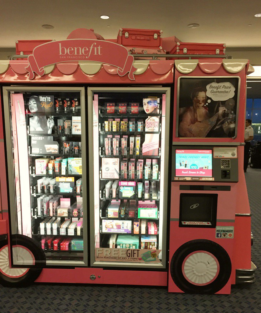@BenefitBeauty Forget the snack stand-hit the Benefit Cosmetics Kiosk at Cincinnati Airport! #BeautyBiz #justluvit https://t.co/XtmDn4sYxS