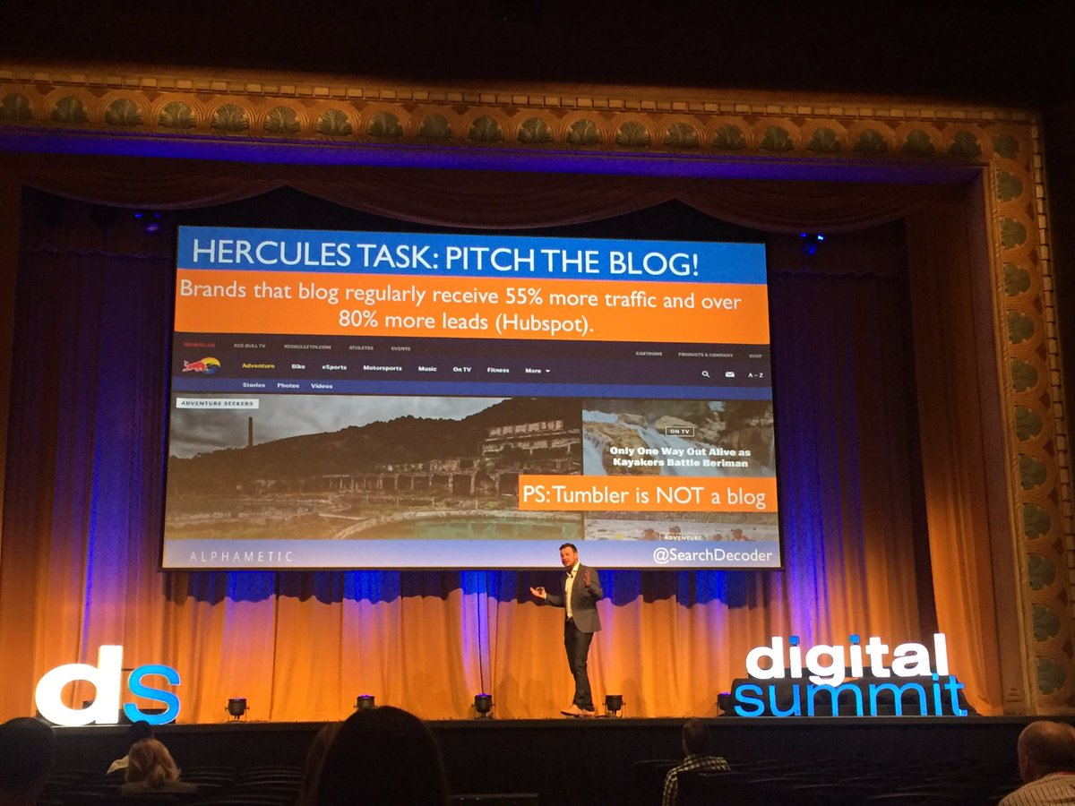 #Blogging is the prerequisite of successful #SEO. @SearchDecoder #DSPDX16 https://t.co/OcfZIbuVsm