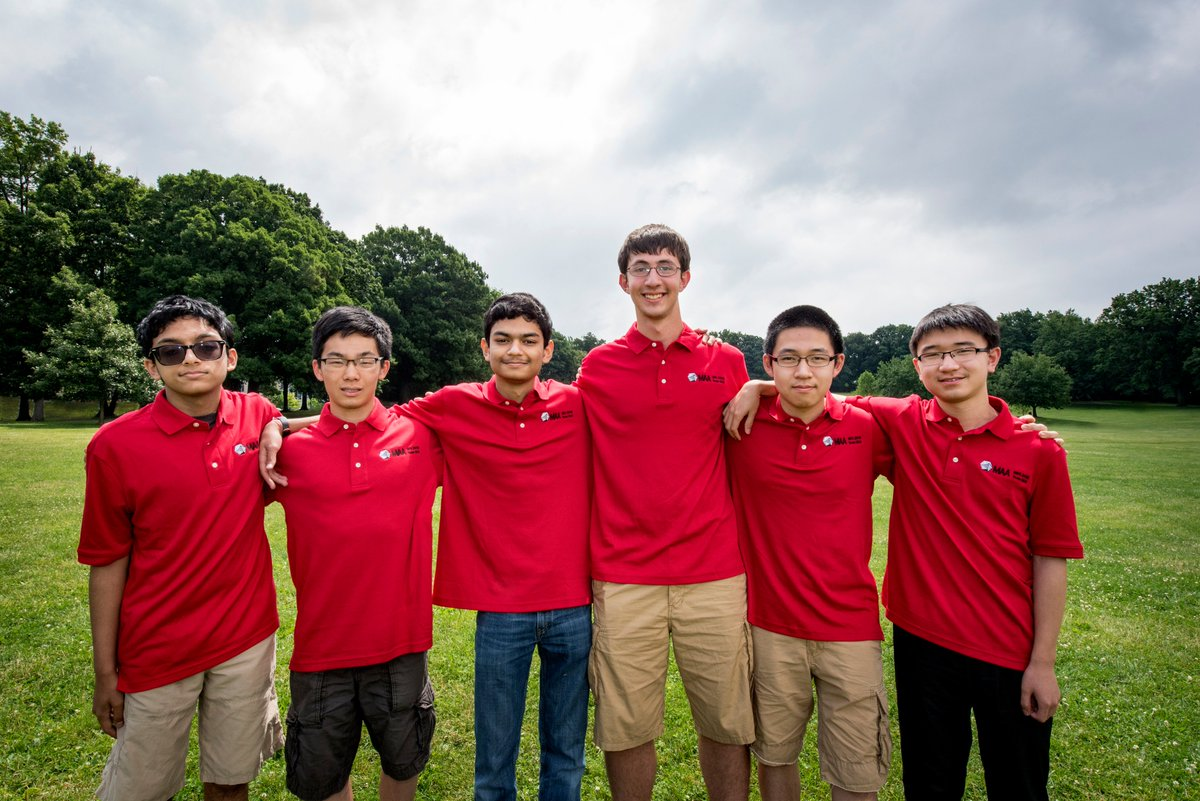 #USA team takes 1st at the International Mathematical Olympiad, 2nd year in a row! #IMO2016 https://t.co/tW7RQoc6sr https://t.co/UtaRrsTthn