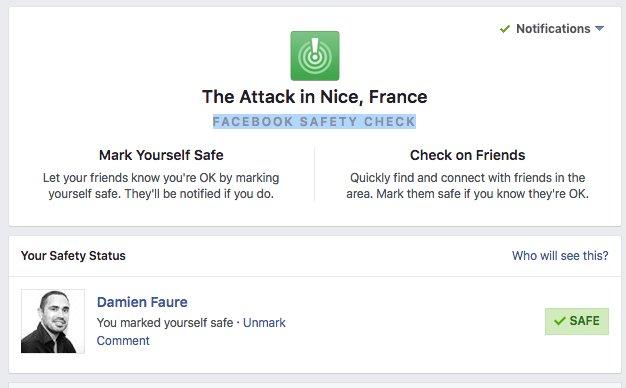 Le Safety Check activé par Facebook https://t.co/dk5u13lR8Q