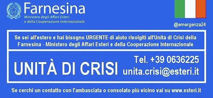 Condividiamo i contatti della #Farnesina per gli italiani a #Nizza