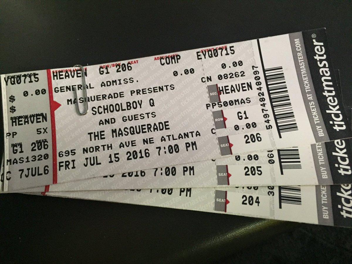 R/T for a chance to win a PR of tix to the sold-out @ScHoolBoyQ @masquerade_atl tmrw night! https://t.co/V0Sne1XnRG https://t.co/tYNlwvCEZK
