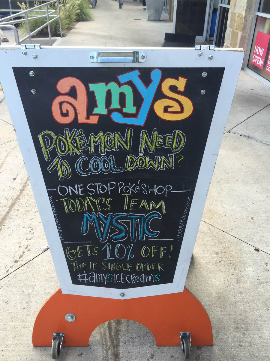 Team Mystic #pride! Take 10% Off your order at Amy's Ice Creams in The Grove at Southpark Meadows. https://t.co/v5q4BuCsez